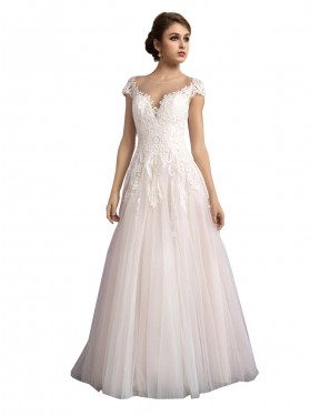 Sydney A-Line Illusion Long Cathedral Train Tulle Mariana Wedding Dress Online
